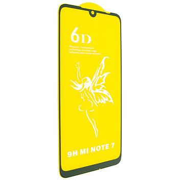 Защитное стекло Mirror 6D Glass 9H для Xiaomi Redmi Note 7 Чёрный