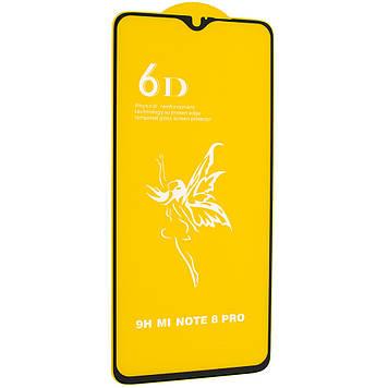 Защитное стекло Mirror 6D Glass 9H для Xiaomi Redmi Note 8 Pro Чёрный