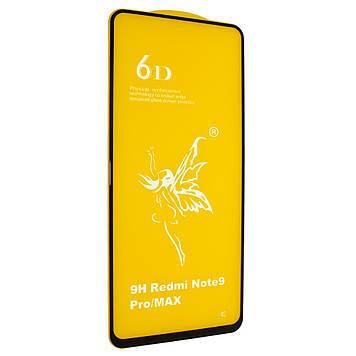 Защитное стекло Mirror 6D Glass 9H для Xiaomi Redmi Note 9 Pro Чёрный