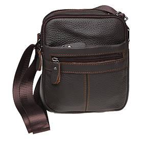 Чоловіча шкіряна сумка через плече Keizer K11816-brown