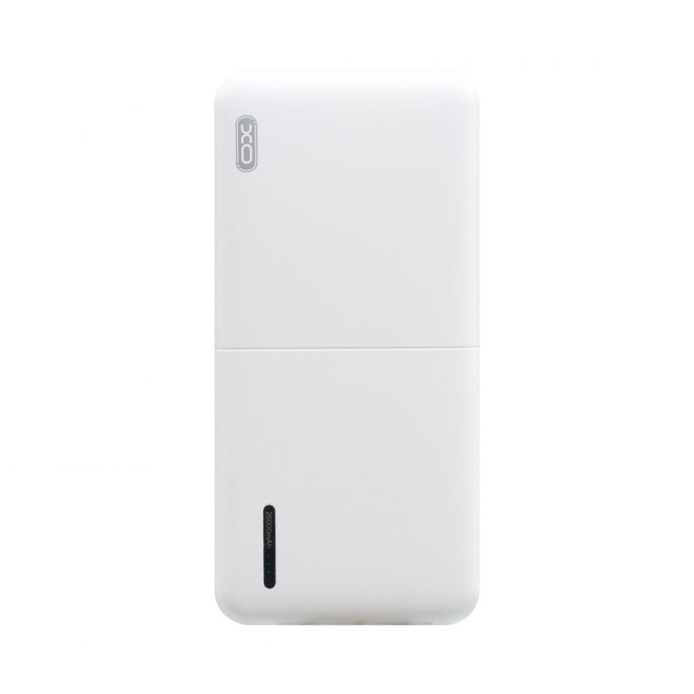 Портативная батарея Power Bank XO PB77 LED индикатор 26000 mAh Белый