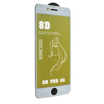 Захисне скло Mirror з ефектом дзеркала для Apple iPhone 6s/ iPhone 6 White-Gold