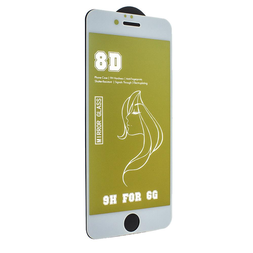 Защитное стекло Mirror с эффектом зеркала для Apple iPhone 6s/ iPhone 6 White-Gold