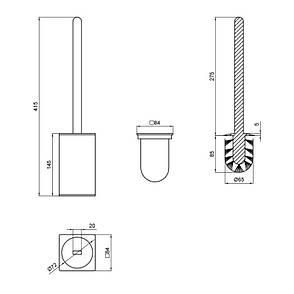 Ершик для унитаза Q-tap Liberty ANT 1157-2, фото 2