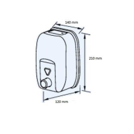 Дозатор жидкого мыла Genwec GW04 21 04 01 1800 мл, фото 2