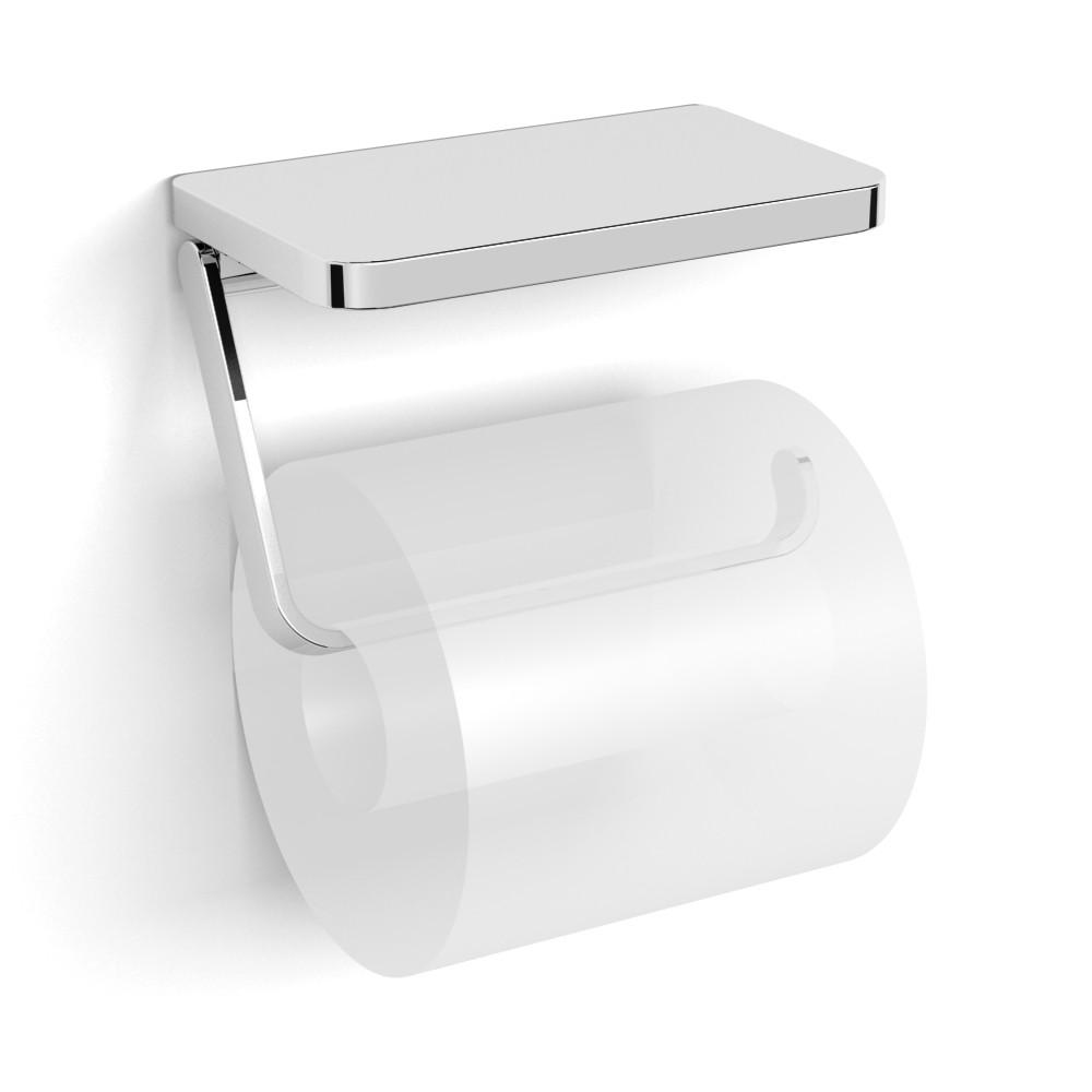 Тримач паперу-поличка, кріплення до стіни, хром, VOLLE TEO 15-88-445