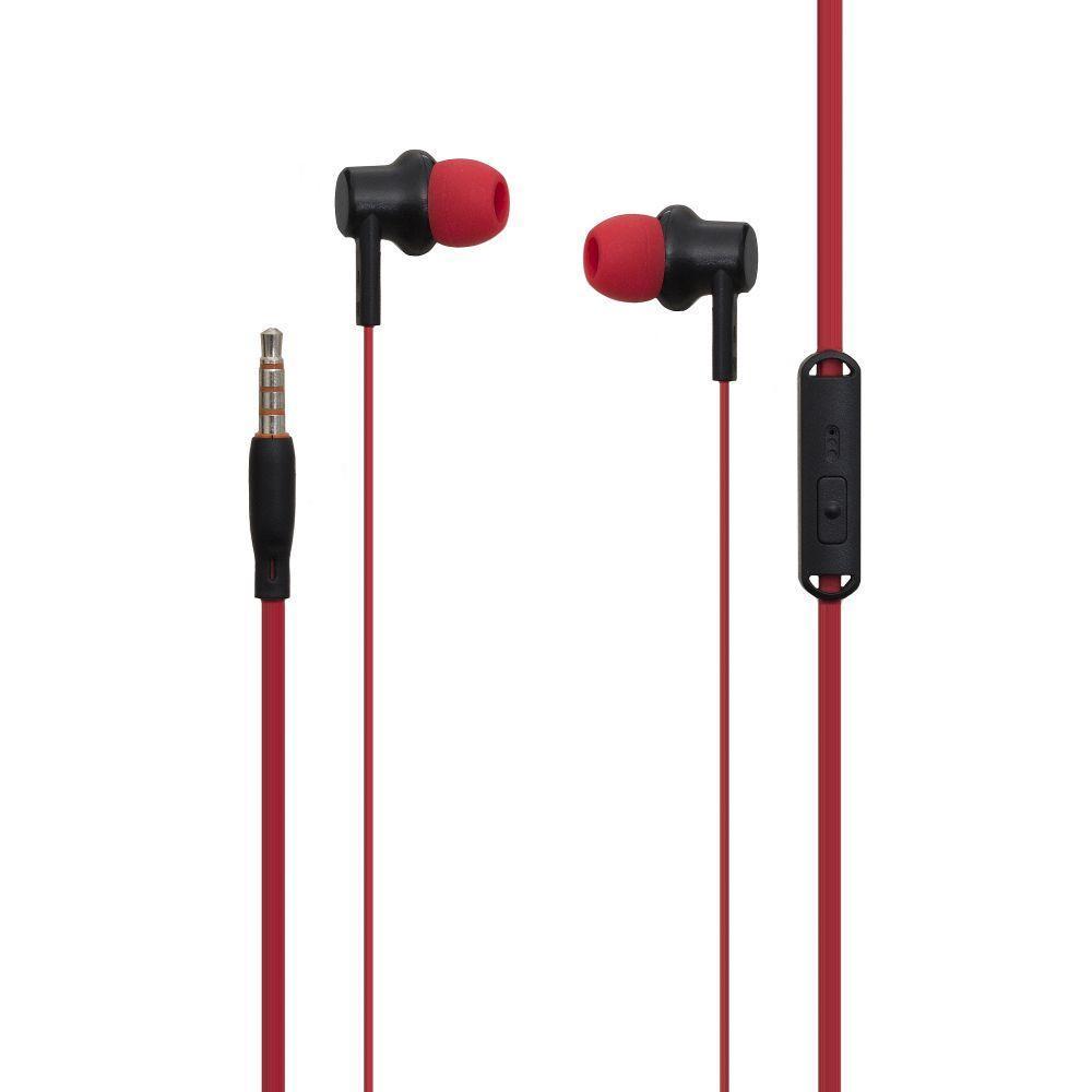 Вакуумні навушники Celebrat V2 гарнітура для телефону Червоний