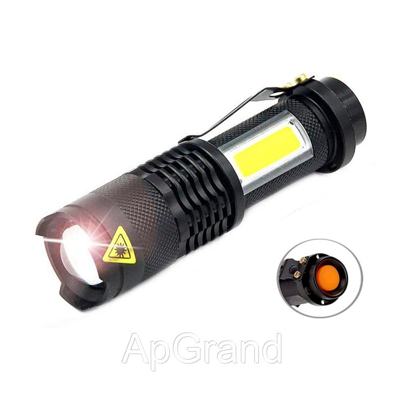Ліхтарик Shustar S-002-COB XPE IPX4 black