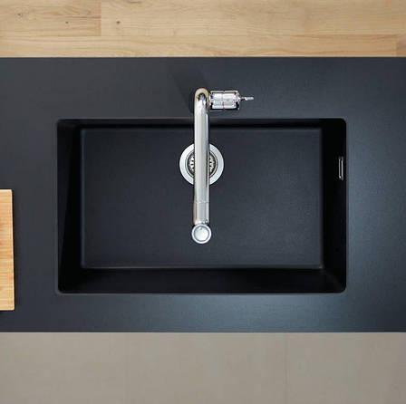 Кухонная мойка Hansgrohe S51 S510-U660 под столешницу 710х450, graphiteblack (43432170), фото 2