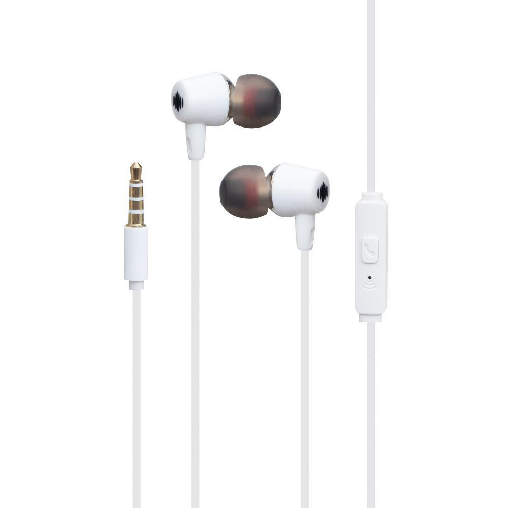 Вакуумные наушники Deepbass D-158 гарнитура для телефона Белый