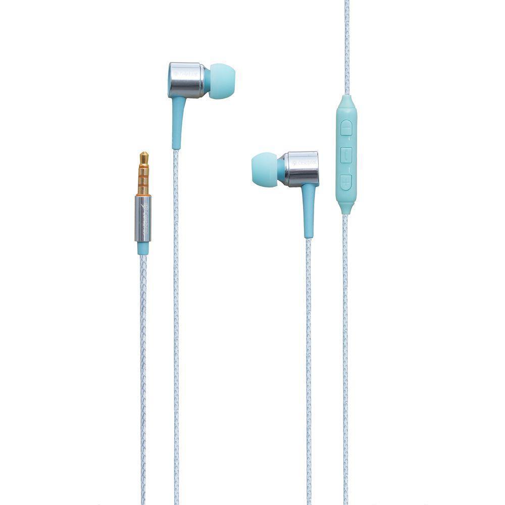 Вакуумні навушники Celebrat C9 гарнітура для телефону Блакитний