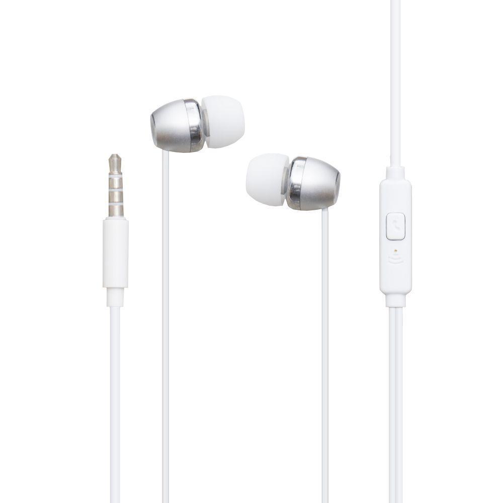Вакуумні навушники Deepbass DS-400 гарнітура для телефону Білий