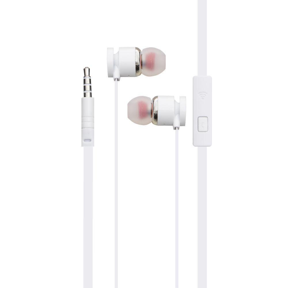 Вакуумные наушники Inkax EP-06 гарнитура для телефона Белый