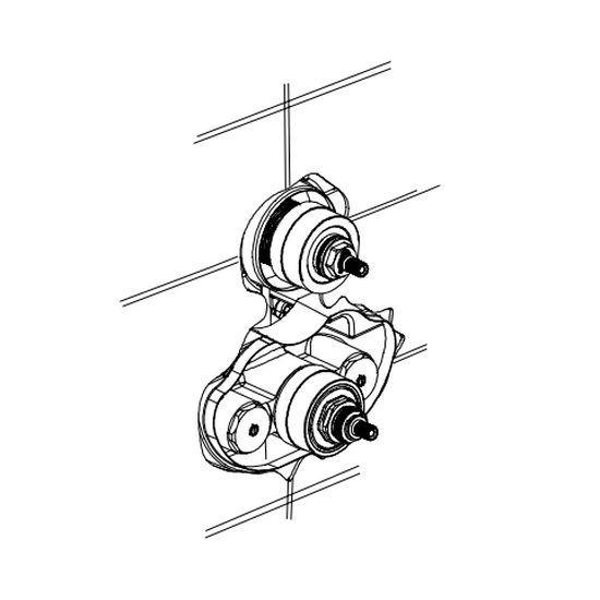 Внутрішня частина для змішувача Bonqio 549 T/Alcor & Classical на 3 виходи (097280003)