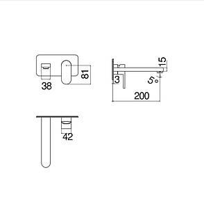 Зовнішня частина змішувача для умивальника Nobili Up (UP94198-1CR) хром, фото 2