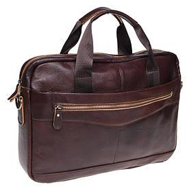 Мужская кожаная сумка Borsa Leather K11118-brown