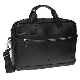 Мужская кожаная сумка Borsa Leather K11118-black