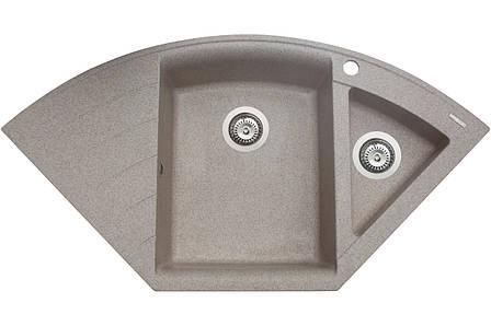 Кухонна мийка гранітна MIRAGGIO EUROPE sand, фото 2
