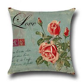 Подушка декоративна Квітка любові 45 х 45 см Berni Home