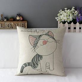 Подушка декоративна Щасливий кошеня 45 х 45 см Berni Home
