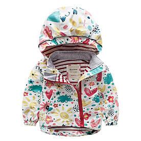 Куртка для дівчинки Квіти Meanbear (104/110) 9 років, 120/130, 122