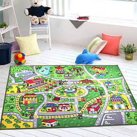 Килимок для дитячої кімнати Залізниця 133 х 190 см Berni Home