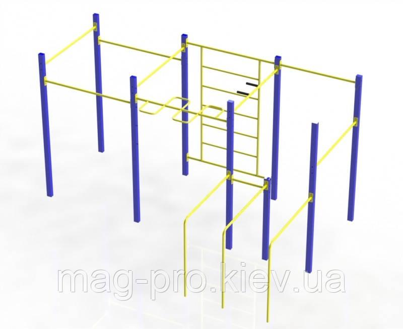 """Гімнастичний комплекс """"Воркаут"""" фланці W201.2"""