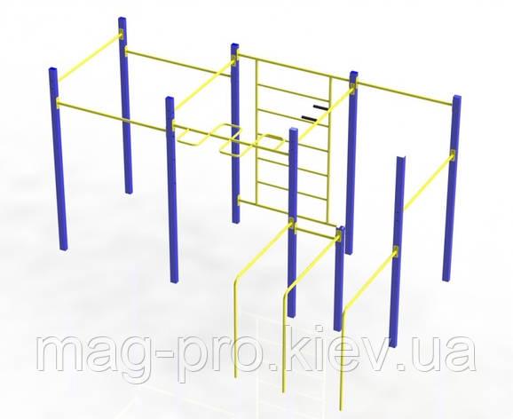 """Гімнастичний комплекс """"Воркаут"""" фланці W201.2, фото 2"""