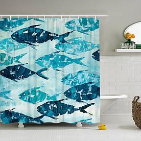 Штора для ванної Риби 180 х 180 см Berni Home