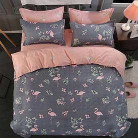 Комплект постільної білизни Фламінго (двоспальний євро) Berni Home