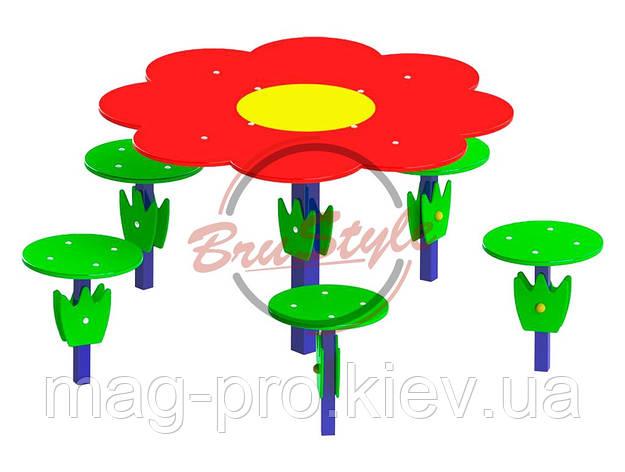 "Дитячий столик ""Поляна"" BruStyle DIO211.1, фото 2"