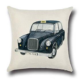 Наволочка декоративна Таксі з Лондона 45 х 45 см Berni Home