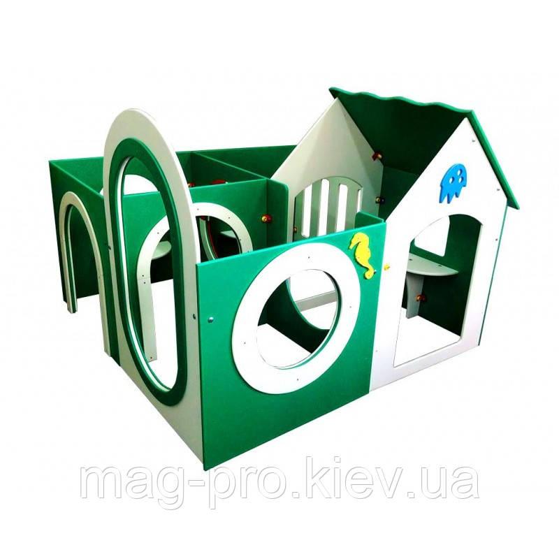 Дитячий будиночок-лабіринт (4 секції)