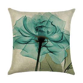 Наволочка декоративная Прозрачный цветок 45 х 45 см Berni Home