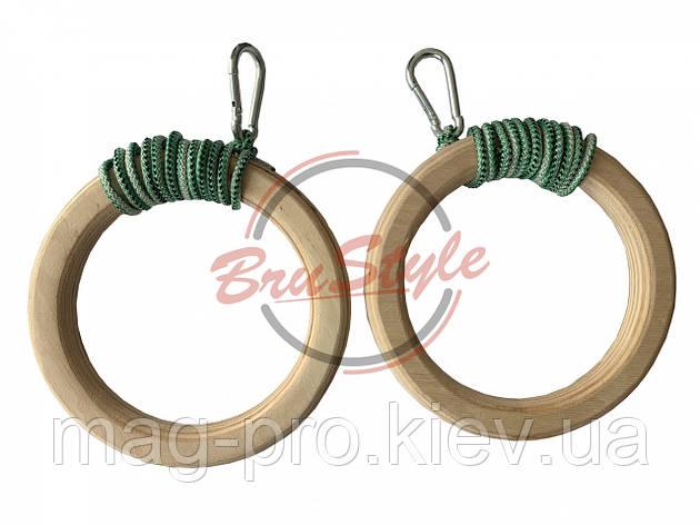 Кільця гімнастичні на карабіні Brustyle H205, фото 2