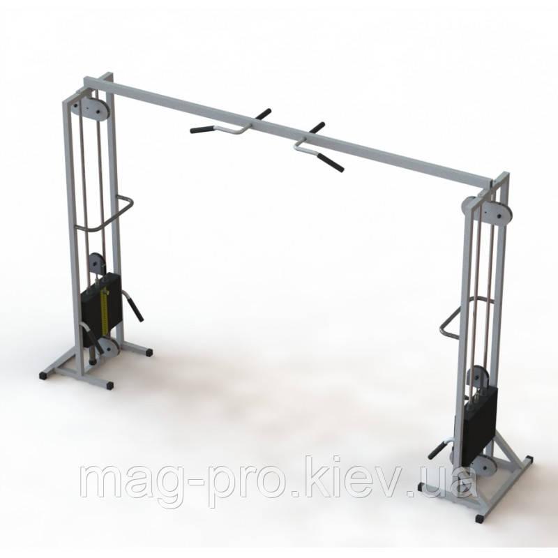 Тренажер для кинезитерапии МТБ -2 стеки 2х80 кг, рама 60х60 мм