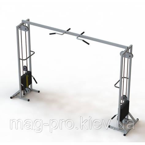 Тренажер для кинезитерапии МТБ -2 стеки 2х80 кг, рама 60х60 мм, фото 2