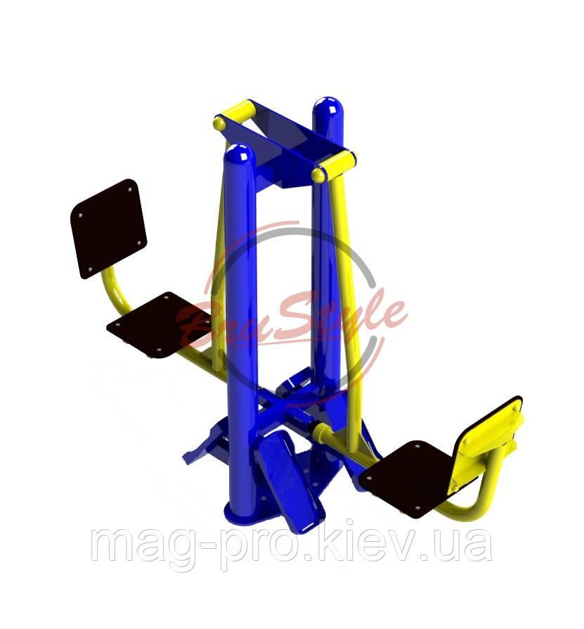 Уличный тренажер жим ногами горизонтальный Brustyle SG100
