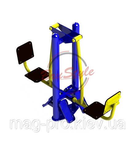 Уличный тренажер жим ногами горизонтальный Brustyle SG100, фото 2