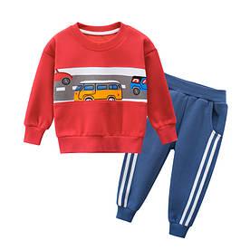 Костюм для хлопчика утеплений 2 в 1 Дорога, червоний 27 KIDS (140)