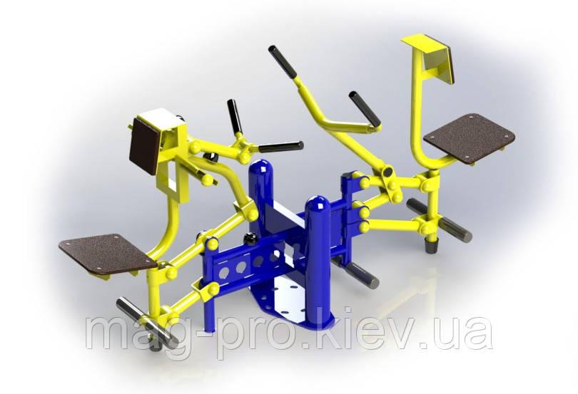 Вуличний тренажер біцепс машина / важільна тяга BruStyle SG124