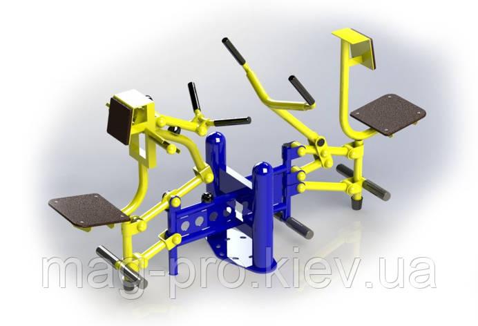 Вуличний тренажер біцепс машина / важільна тяга BruStyle SG124, фото 2