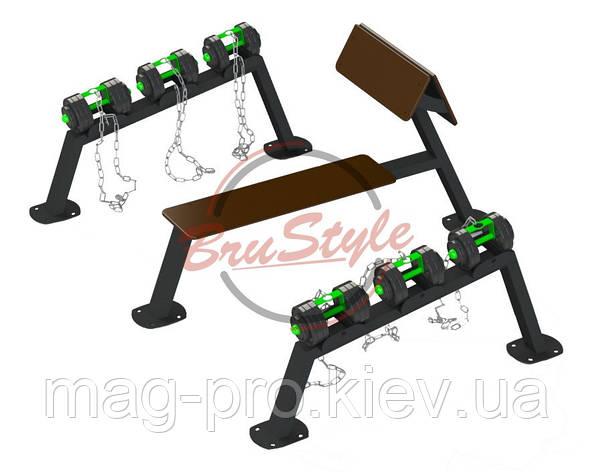 Гантельний ряд: 2*10 кг / 2*14 кг / 2*18 кг BruStyle SG611.2, фото 2