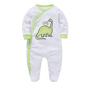 Человечек детский Зеленый динозаврик Berni Kids (9-12 мес)