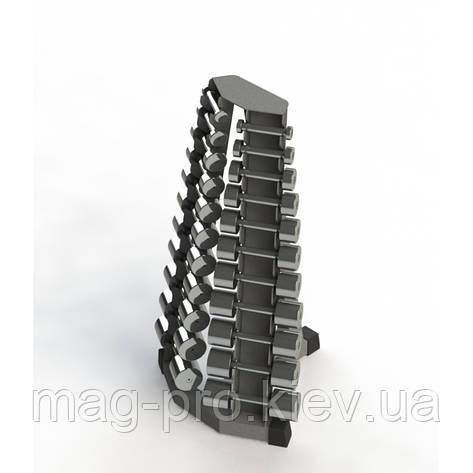 Хромовані гантелі (0,5 -10 кг) зі стійкою, фото 2
