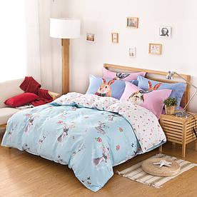 Комплект постільної білизни Олень і кролик (двоспальний євро) Berni Home