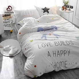 Комплект постільної білизни Щасливий слон (полуторний) Berni Home