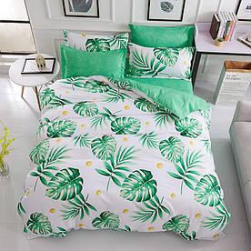 Комплект постільної білизни Тропічна листя (двоспальний євро) Berni Home