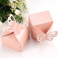 """Бонбоньерки """"Бабочки"""" розовые, оригинальные коробочки для конфет"""