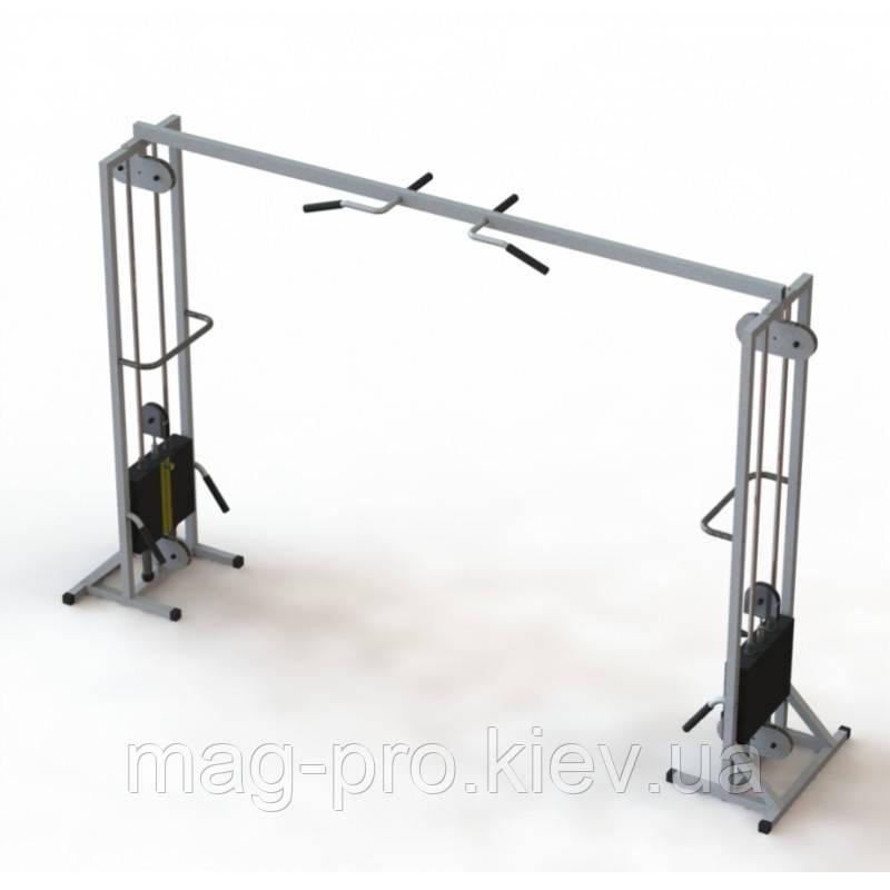 Тренажер для кінезітерапії для будинку МТБ-2 стеки 2х60 кг, рама 40х40 мм